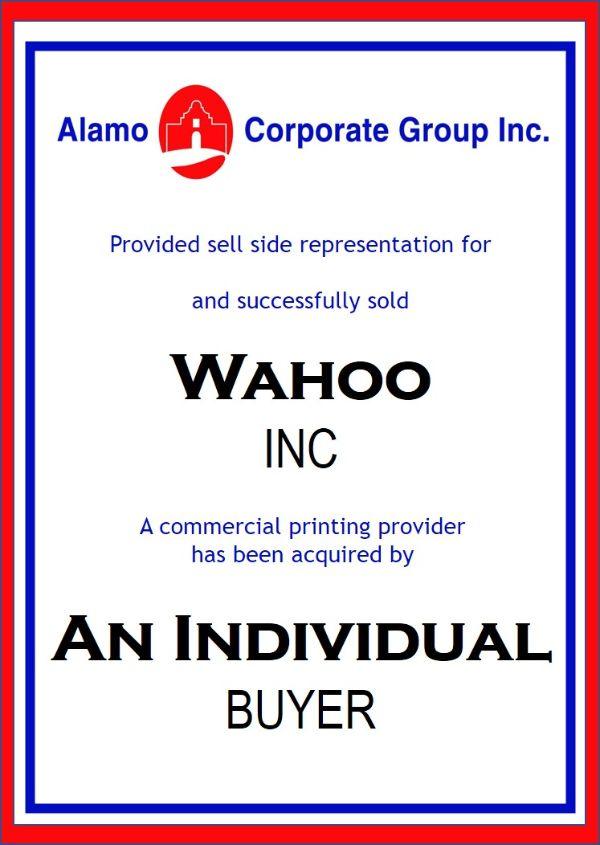 Wahoo, Inc